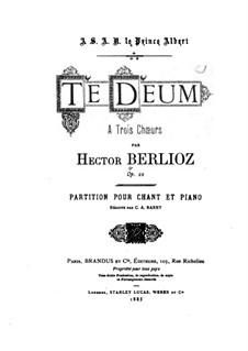 Te Deum, H.118 Op.22: Partitura piano-vocal by Hector Berlioz