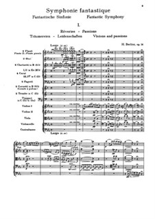 Symphonie fantastique (Fantastic Symphony), H.48 Op.14: Partitura completa by Hector Berlioz