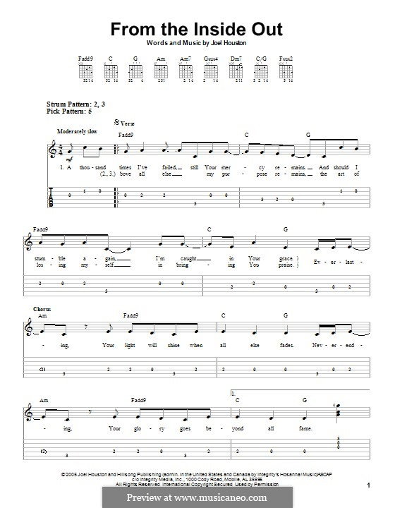 From the Inside Out: Para guitarra com guia by Joel Houston