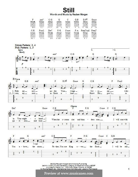 Still: Para guitarra com guia by Reuben Morgan