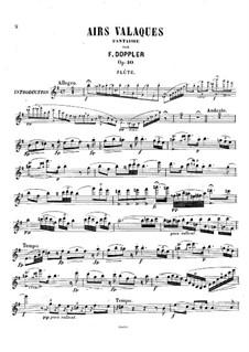 Airs Valaques, Op.10: Parte de solo by Franz Doppler