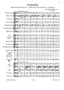 Vodník (The Water Goblin), B.195 Op.107: Partitura completa by Antonín Dvořák