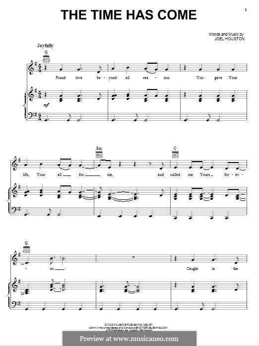 The Time Has Come: Para vocais e piano (ou Guitarra) by Joel Houston