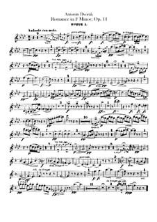 Romance in F Minor, B.39 Op.11: parte de oboes by Antonín Dvořák