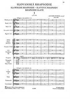 Rhapsody No.1 in D Major: Partitura completa by Antonín Dvořák