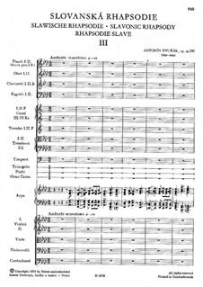 Rhapsody No.3 in A Flat Major: Partitura completa by Antonín Dvořák