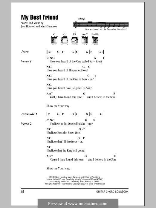 My Best Friend: Letras e Acordes by Marty Sampson, Joel Houston