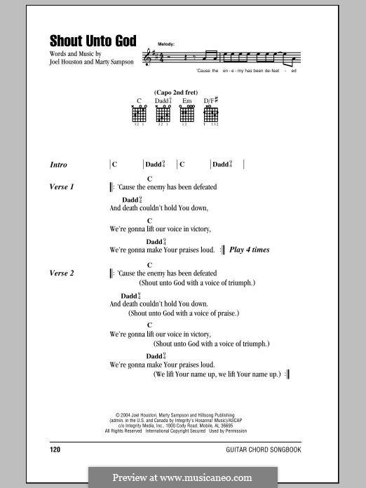 Shout Unto God (Hillsong United): Letras e Acordes by Marty Sampson, Joel Houston