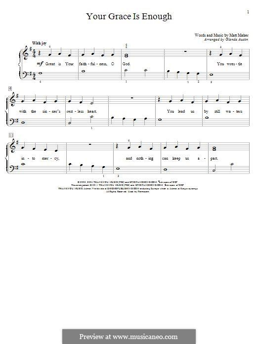 Your Grace is Enough: Para Piano by Matt Maher