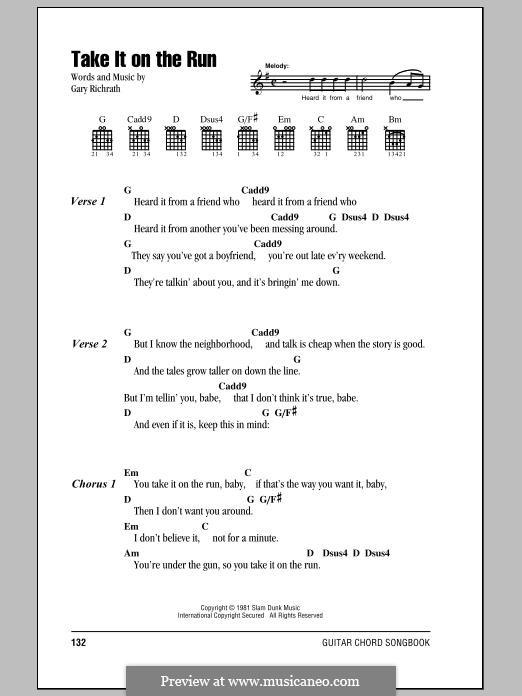 Take it on the Run (REO Speedwagon): melodia by Gary Richrath