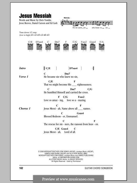 Jesus Messiah: Letras e Acordes by Chris Tomlin, Daniel Carson, Ed Cash, Jesse Reeves