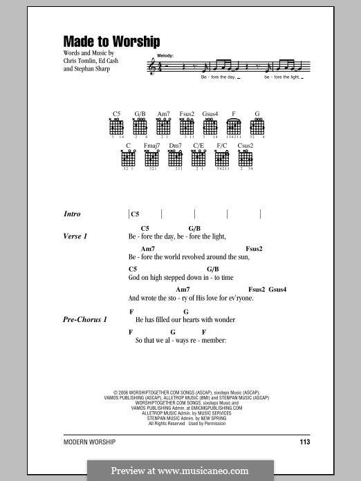 Made to Worship: Letras e Acordes by Chris Tomlin, Ed Cash, Stephan Sharp