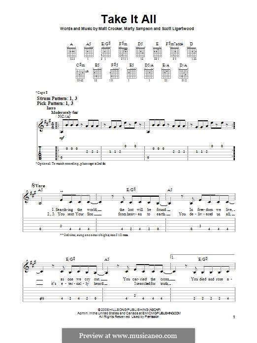 Take it All (Hillsong United): Para guitarra com guia by Marty Sampson, Scott Ligertwood, Matt Crocker