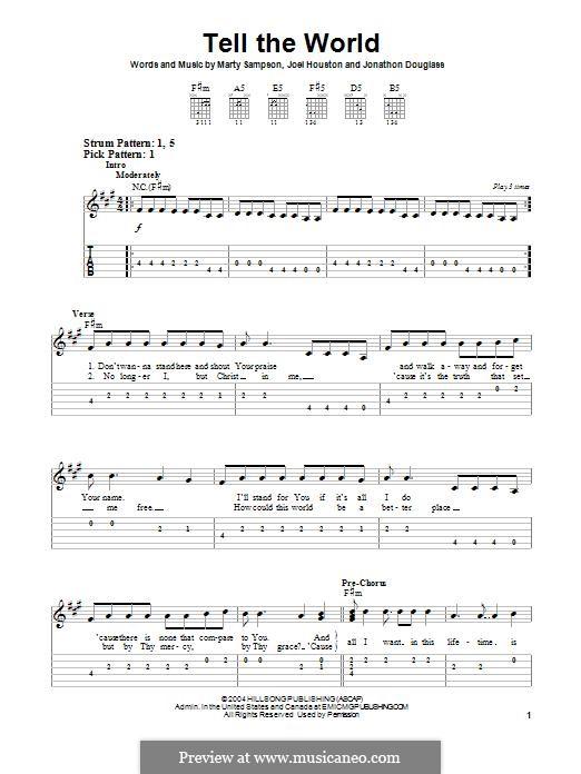 Tell the World (Hillsong United): Para guitarra com guia by Marty Sampson, Joel Houston, Jonathon Douglass
