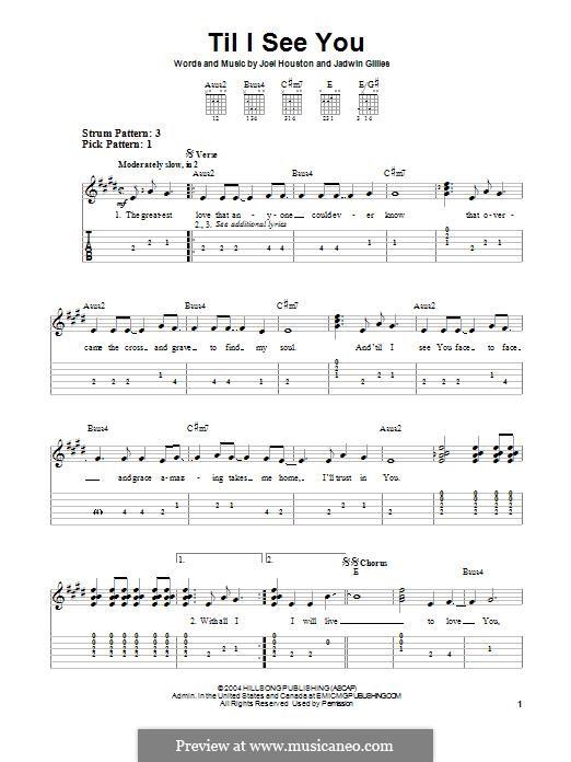 Til I See You (Hillsong United): Para guitarra com guia by Joel Houston, Jadwin Gillies