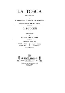 Tosca: Partitura Piano-vocal by Giacomo Puccini