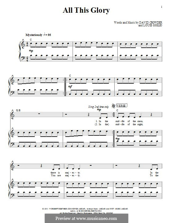 All This Glory (Passion): Para vocais e piano (ou Guitarra) by Louie Giglio, David Crowder