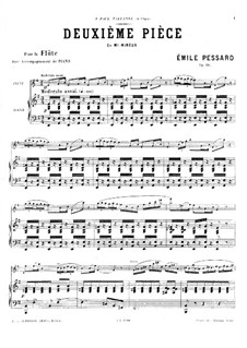 Piece for Flute and Piano No.2, Op.28: partitura by Emile Pessard