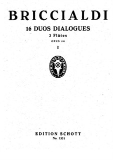 Sixteen Duets-Dialogues for Two Flutes, Op.132: No.1-8 – Partitura completa by Giulio Briccialdi