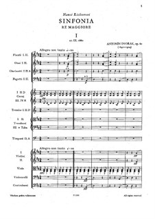 Symphony No.6 in D Major, B.112 Op.60: movimento I by Antonín Dvořák