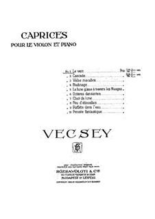 Caprice No.1 'Le Vent': Caprice No.1 'Le Vent' by Franz von Vecsey