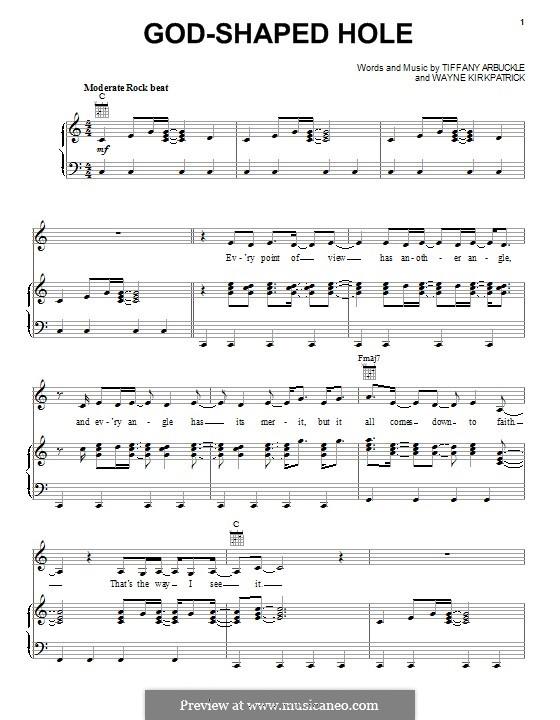 God-Shaped Hole (Plumb): Para vocais e piano (ou Guitarra) by Tiffany Arbuckle, Wayne Kirkpatrick
