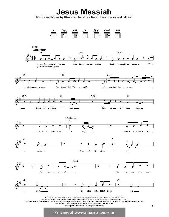 Jesus Messiah: Para guitarra com guia by Chris Tomlin, Daniel Carson, Ed Cash, Jesse Reeves
