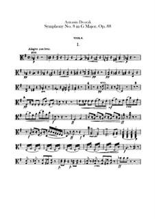 Complete Symphony: parte viola by Antonín Dvořák