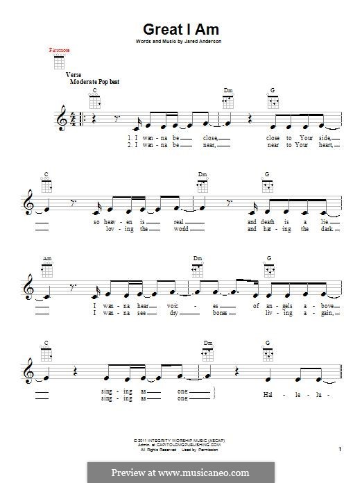 Great I am: para ukulele by Jared Anderson