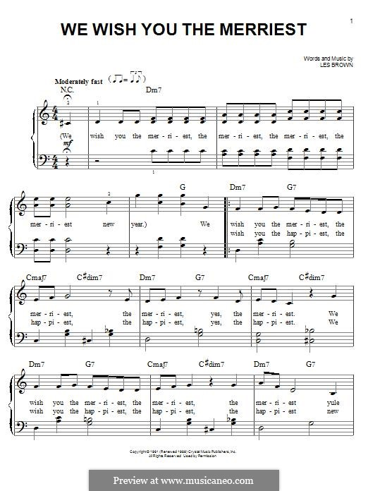 We Wish You the Merriest (Frank Sinatra): Para Piano by Lester Brown