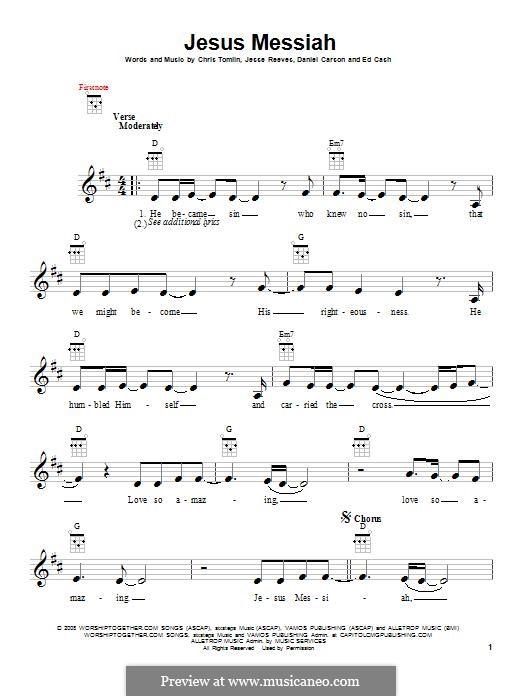 Jesus Messiah: para ukulele by Chris Tomlin, Daniel Carson, Ed Cash, Jesse Reeves