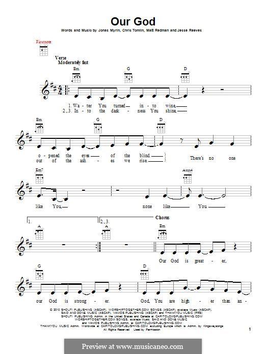 Our God: para ukulele by Chris Tomlin, Jesse Reeves, Jonas Myrin, Matt Redman