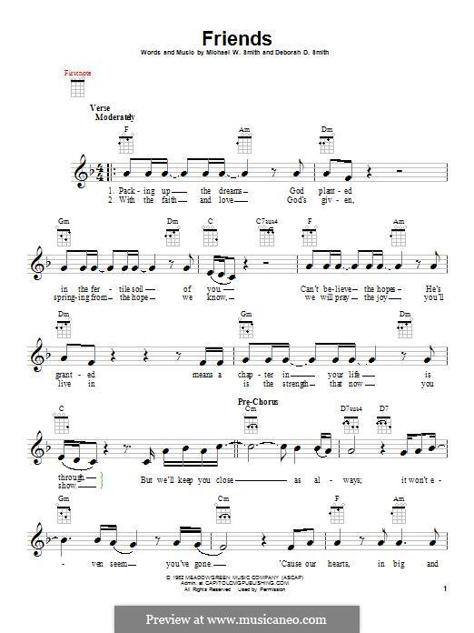 Friends: para ukulele by Michael W. Smith, Deborah D. Smith