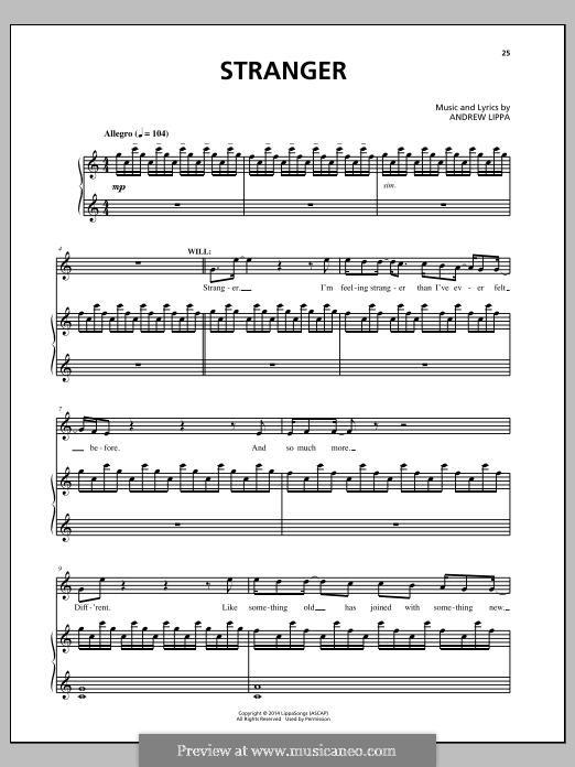 Stranger: Para vocais e piano (ou Guitarra) by Andrew Lippa