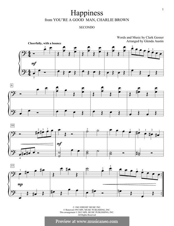 Happiness: Para Piano by Clark Gesner