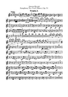 Complete Symphony: parte trompetas by Antonín Dvořák