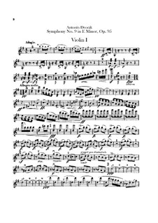 Complete Symphony: violino parte I by Antonín Dvořák