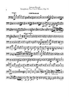 Complete Symphony: Parte contrabaixo by Antonín Dvořák