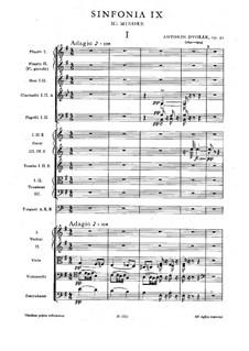 Movement I: partitura completa by Antonín Dvořák