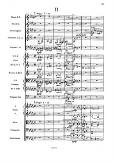 Movement II (Largo): partitura completa by Antonín Dvořák