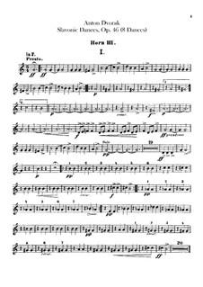 Book I: trompa partes III, IV by Antonín Dvořák
