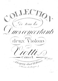 Six Concert Duos for Two Violins, WIV 1-6: Duos No.4-6 – parts by Giovanni Battista Viotti