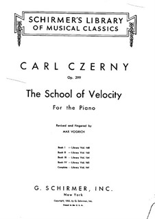 School of Velocity, Op.299: Exercises No.1-10 by Carl Czerny