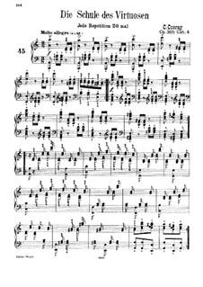 School of Virtuosos, Op.365: Exercises No.45-60 by Carl Czerny