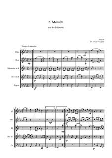 Feldpartie: Menuett (HB5) by Joseph Haydn