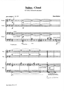 Nubes - Cloud for piano trio: Nubes - Cloud for piano trio by Hans Bakker