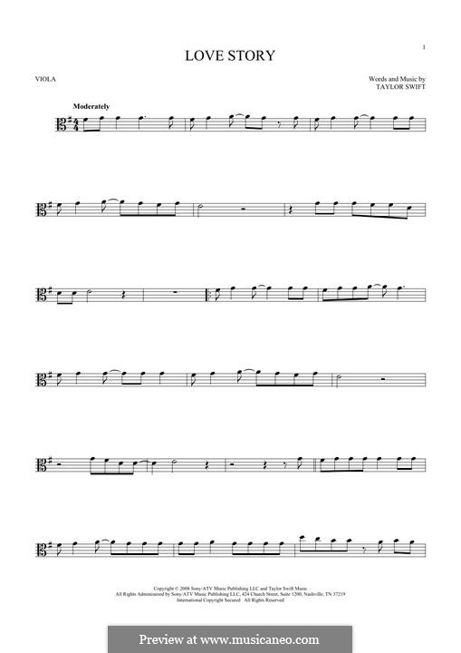 Love Story: para viola by Taylor Swift