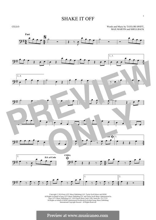 Shake it Off: para violoncelo by Shellback, Max Martin, Taylor Swift