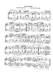No.8 Am Kamin (At the Fireside): Para Piano by Robert Schumann