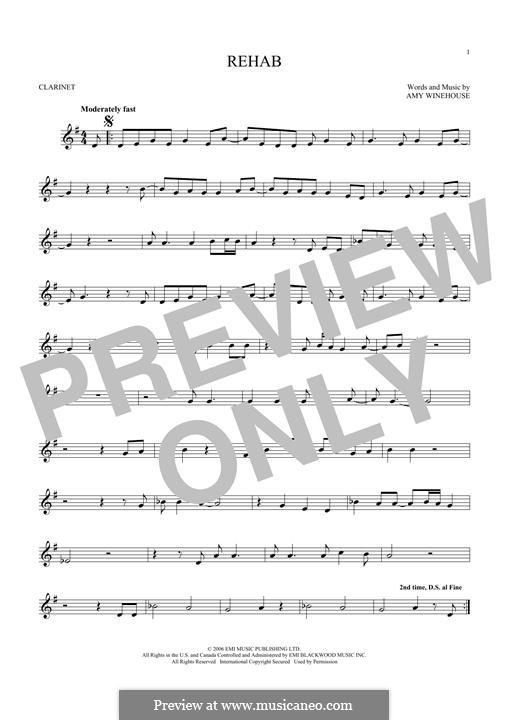 Rehab: para clarinete by Amy Winehouse
